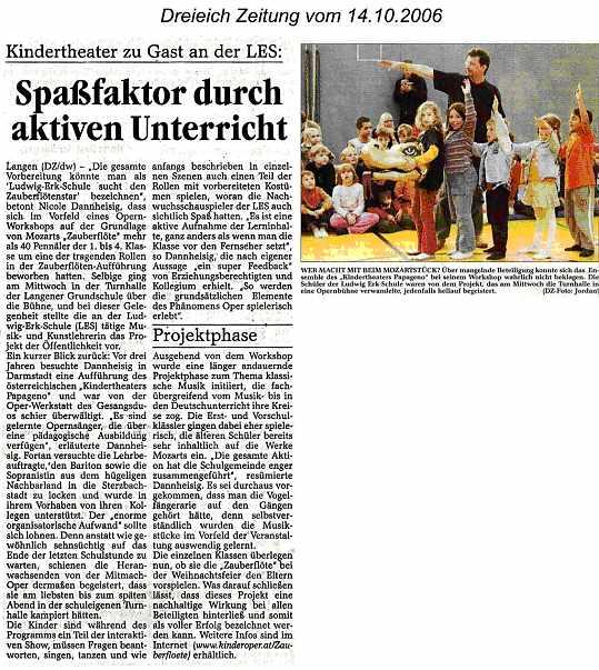 Kindertheater Pressebericht Peter Pacher